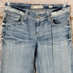 BKE Payton Ankle Jeans Thick Stitch Straight Leg